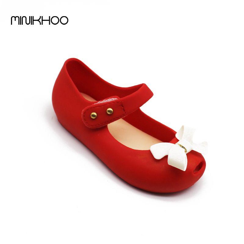 672e18db19f Mini Melisa Bow Children Shoes Jelly Shoes Soft Girls Sandals Bottom ...