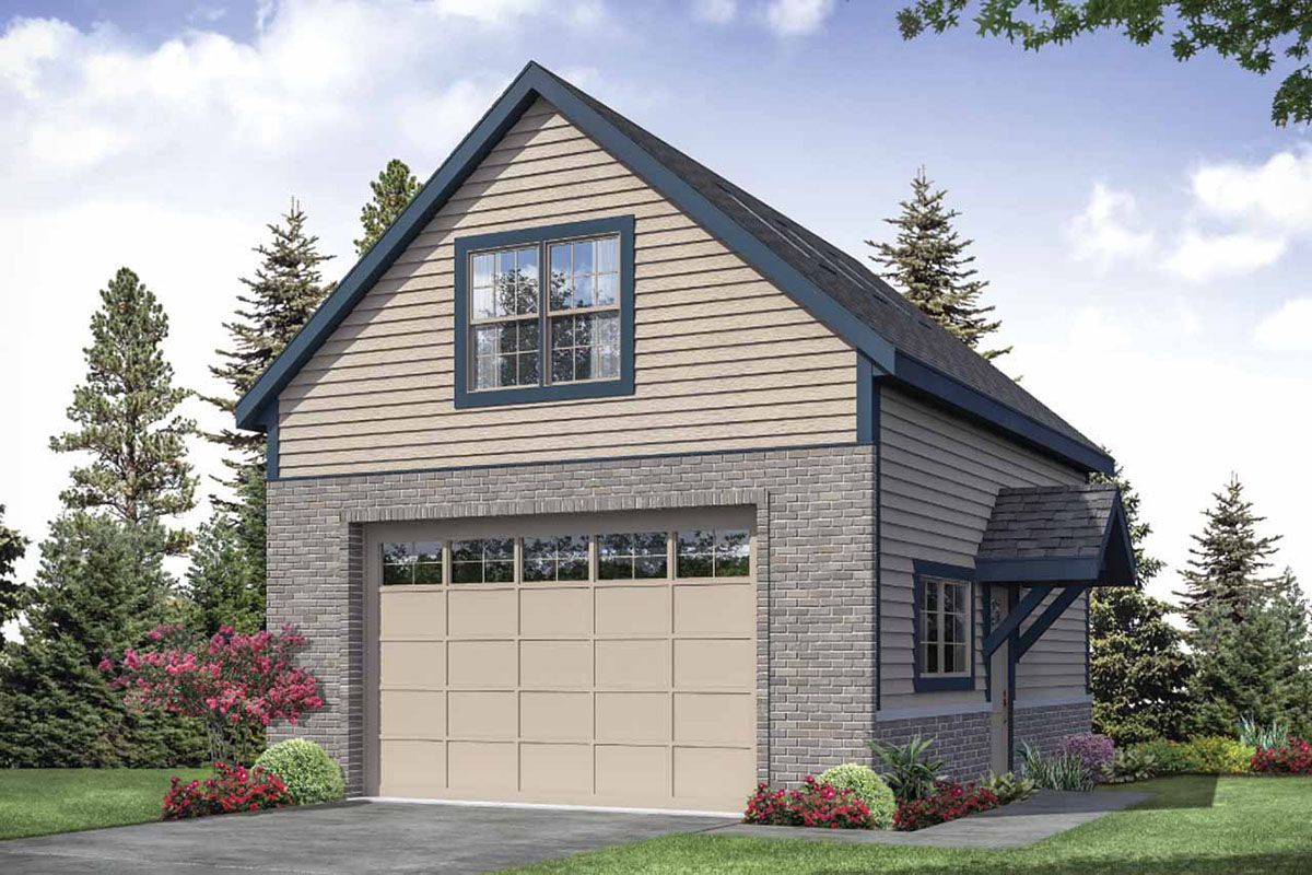 Plan 72958da Detached Garage Plan With Upstairs Loft With Full Bathroom Garage Plans Detached Garage Plans With Loft Garage Plan