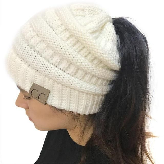 CC Beanies with Ponytail Hole  9f8d4246c4e