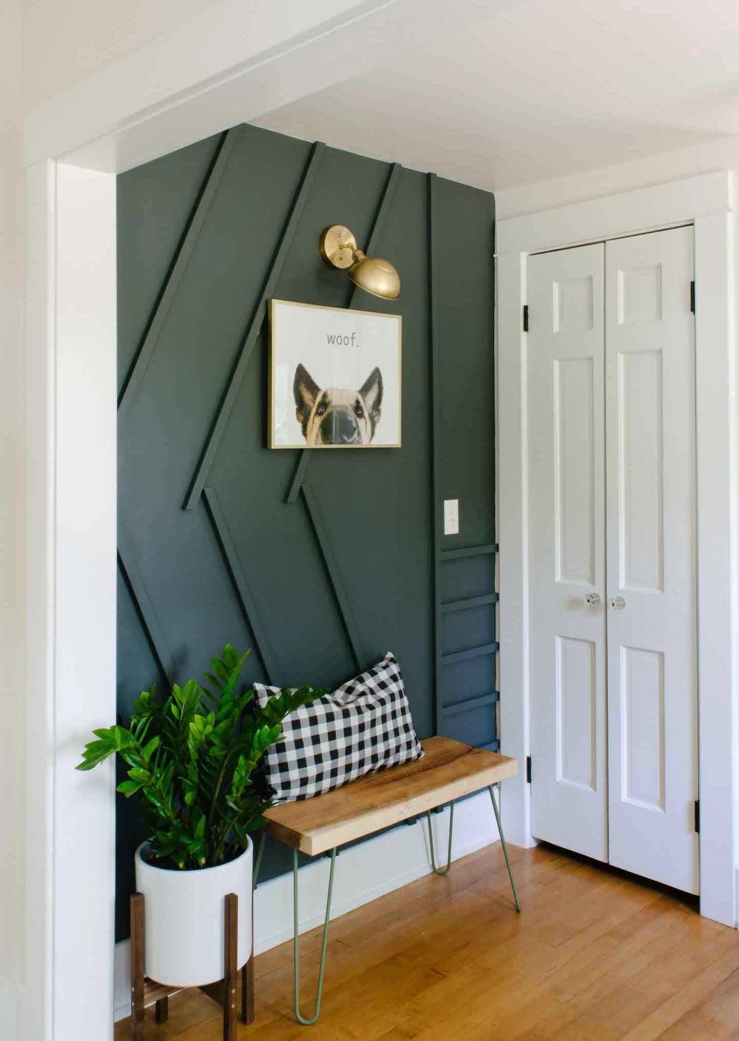 Modern Wood Accent Wall Ideas Decorative Wood Walls Modernhomedecorideas Small Apartment Decorating Apartment Entrance Apartment Decor