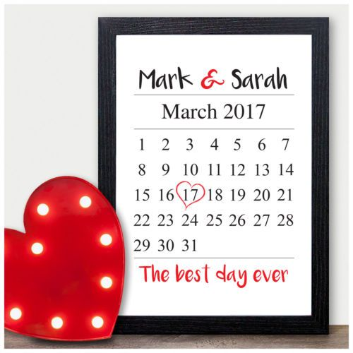 Personalised 1st Wedding Anniversary Gift Ideas For Him Her Husband Wife Un Paper Gifts Anniversary First Wedding Anniversary Gift 1st Wedding Anniversary Gift