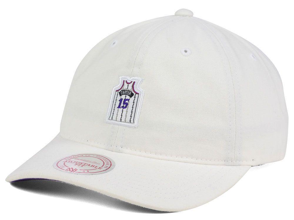 Toronto Raptors Vince Carter Mitchell and Ness NBA Deez Jersey Dad Hats 9be4a10435c0