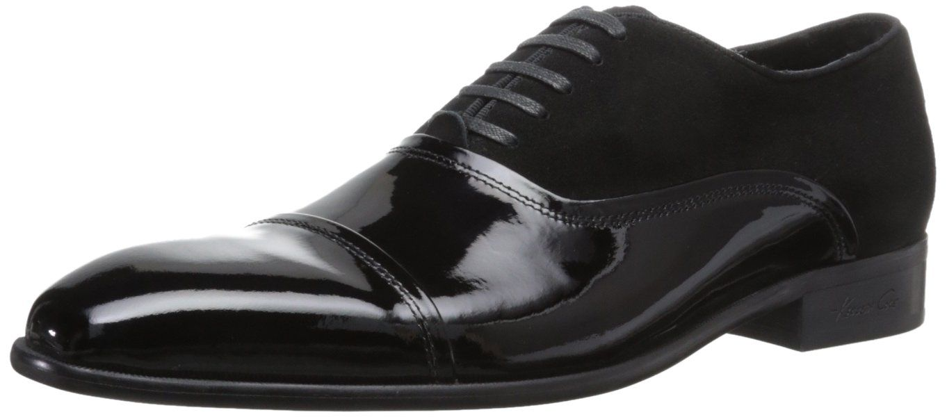 Keith just ordered our shoes. Kenneth Cole New York Men's Wheel of Time 4Z Tuxedo Oxford, Black,