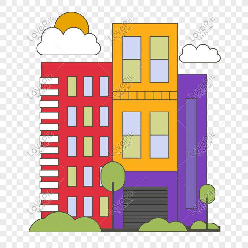 20 Gambar Kartun Gedung Bertingkat Kumpulan Gambar Kartun Gambar Kartun Gedung