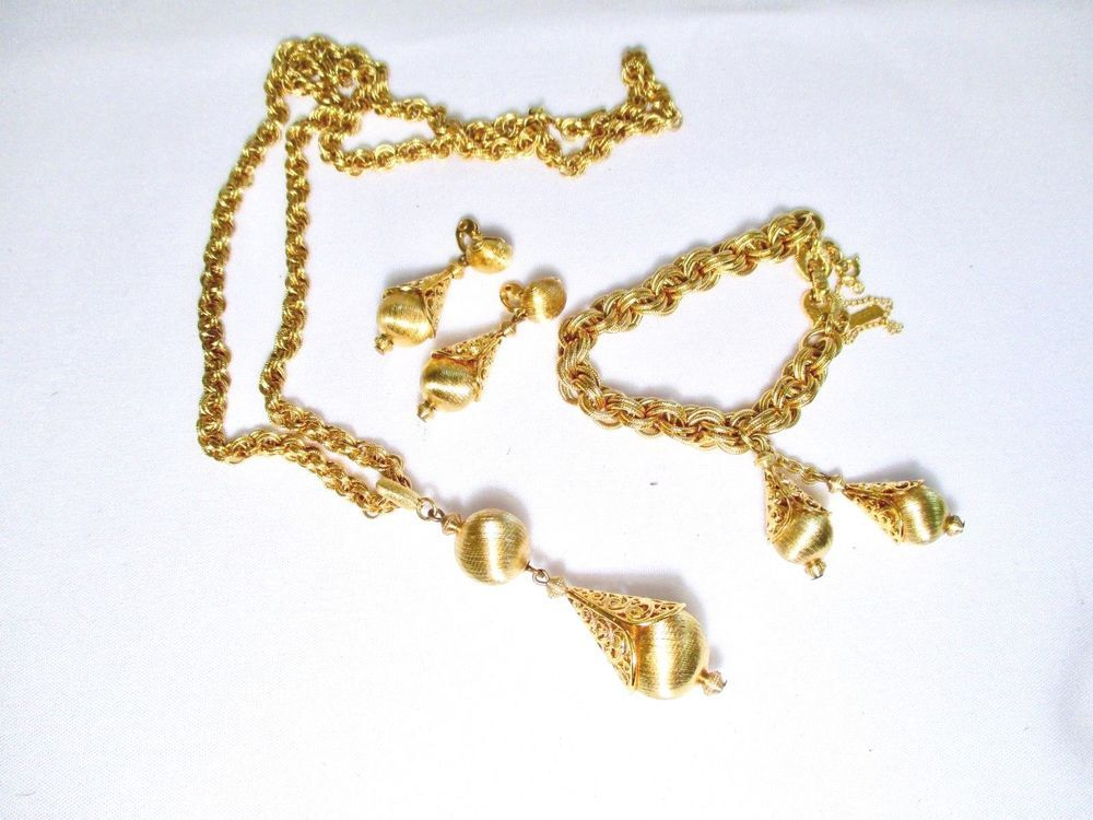 Monet Necklace Bracelet Earrings Set Monet Ebay Auctions