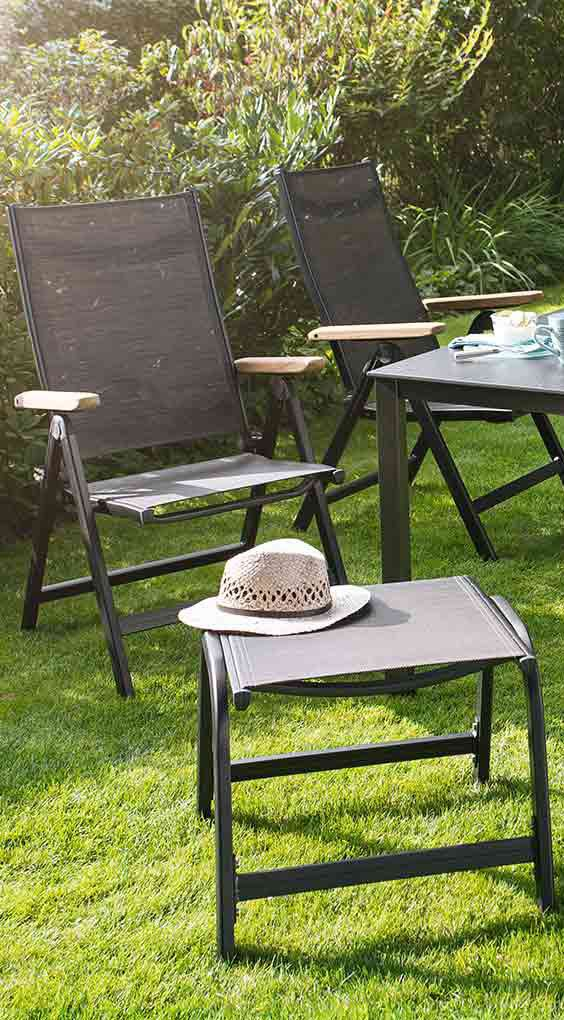 gartenstühle in anthrazit und bronze | klapbarer gartenstuhl von, Gartenmöbel