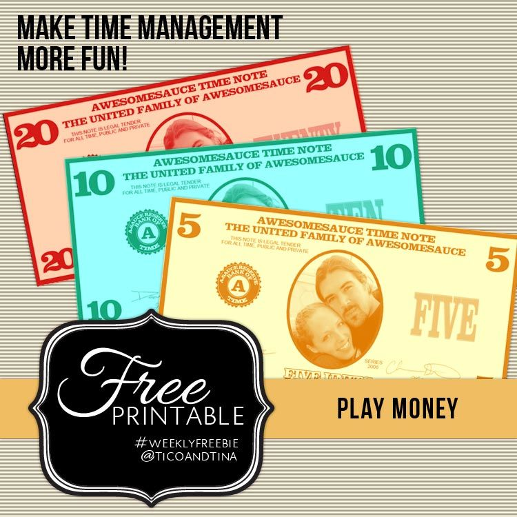 Free Printable Play Money  Tico  Tinatico  Tina  Recipes