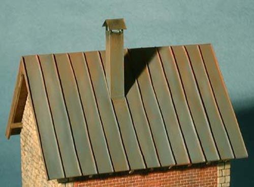 Tutorial Miniature Faux Tin Roof Tin Roof Faux Tin Corrugated Metal Roof