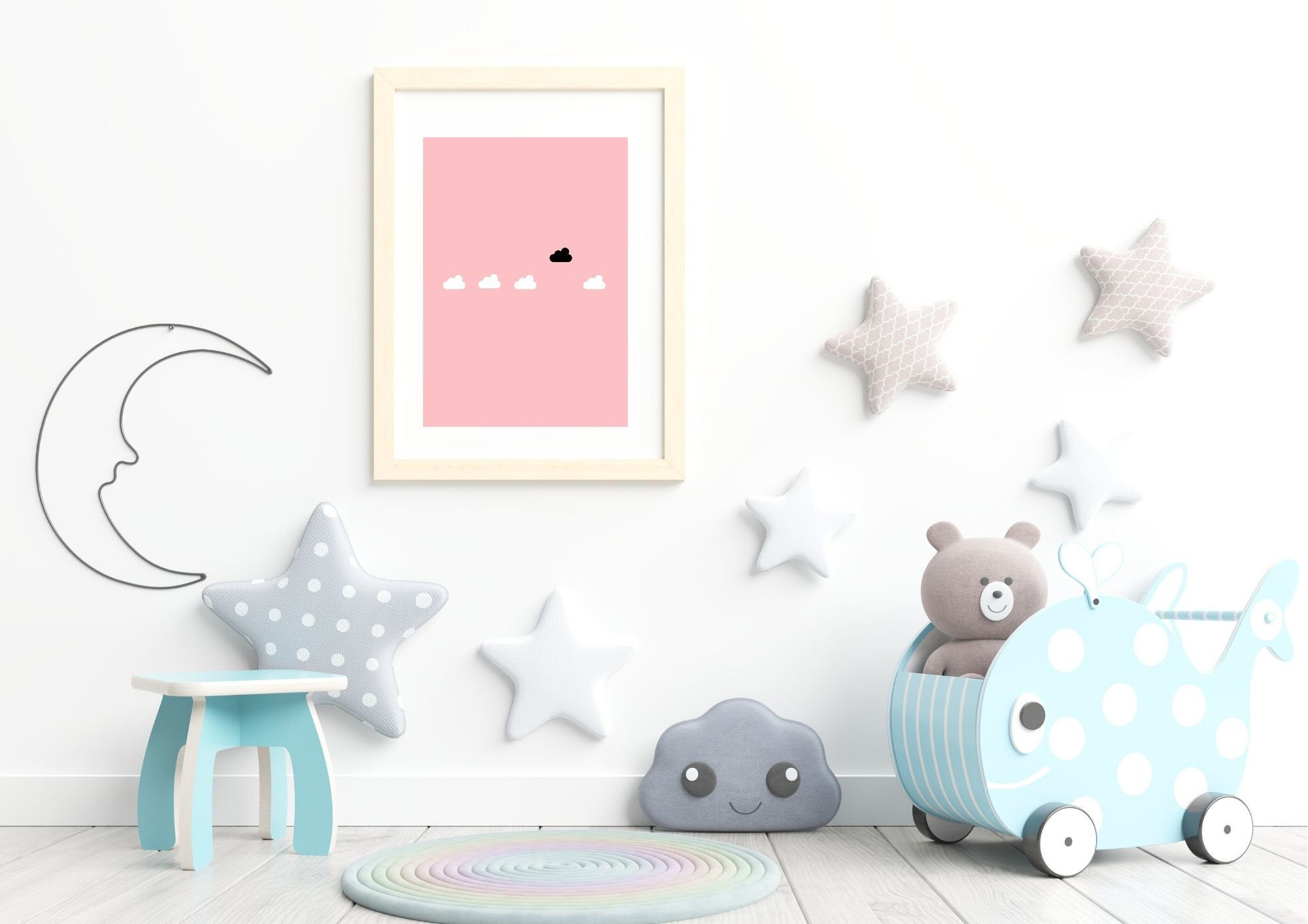 Poster Wolken rosa , Druck , Kunstd