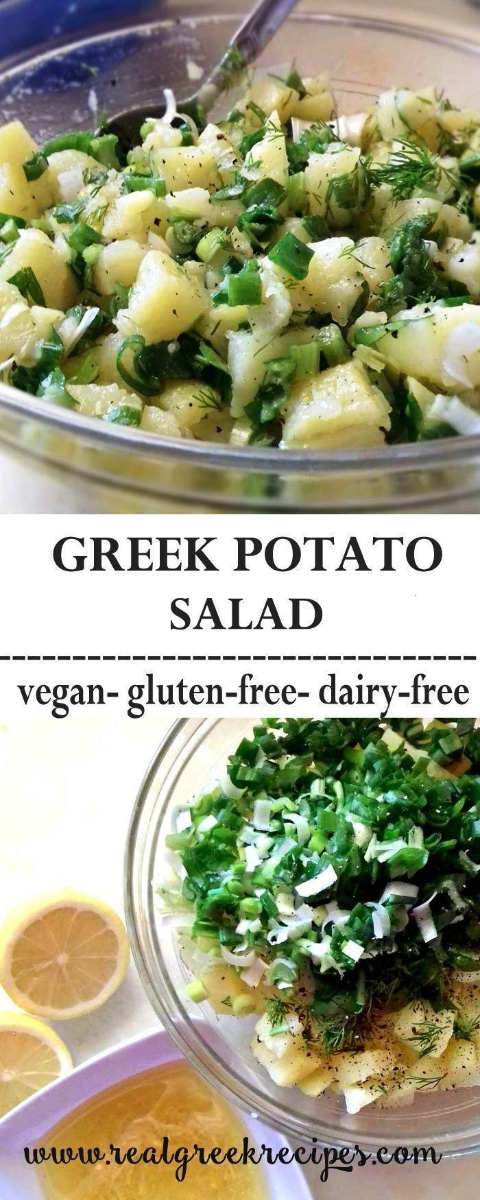 potato salad with garlic, lemon and fresh herbs Greek potato salad with garlic, lemon and fresh her
