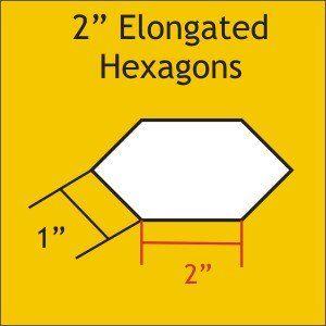 Elongated Hexagons English Paper Piecing Hexagon Paper Piecing