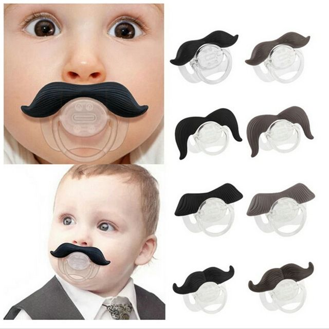 Funny Baby Pacifier I Love Mustache Infant Pacifiers Baby Soother Safe Nipples