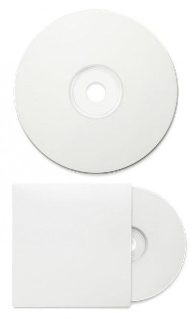 Color Blanco - White!!! blank cd packaging psd layered material - blank tri fold brochure template