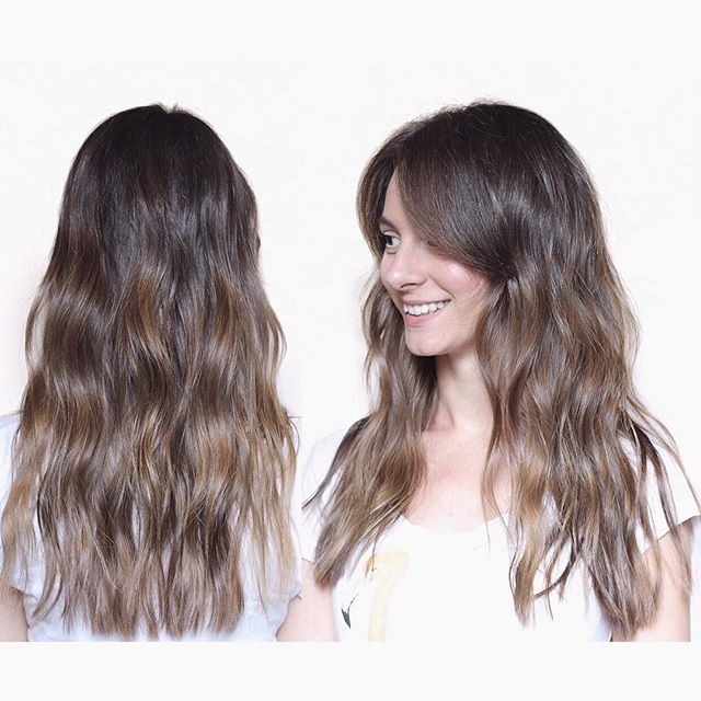 Sombré smile Natural brunette tones Hair color by Ivan Klaic #hair #haircolor #haircut #hairstyle #hairstylist #balayage #naturalhair #sunkissed #bronde #wavyhair #midlenght #hairsalon