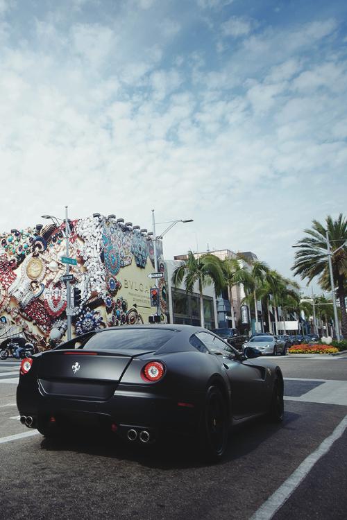 matte black ferrari 599 gtb - Matte Black Ferrari 599