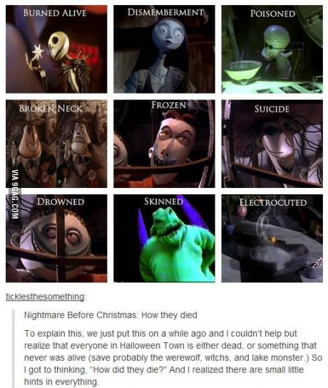 Nightmare Before Christmas Memes Funny.How The Characters From Nightmare Before Christmas Died