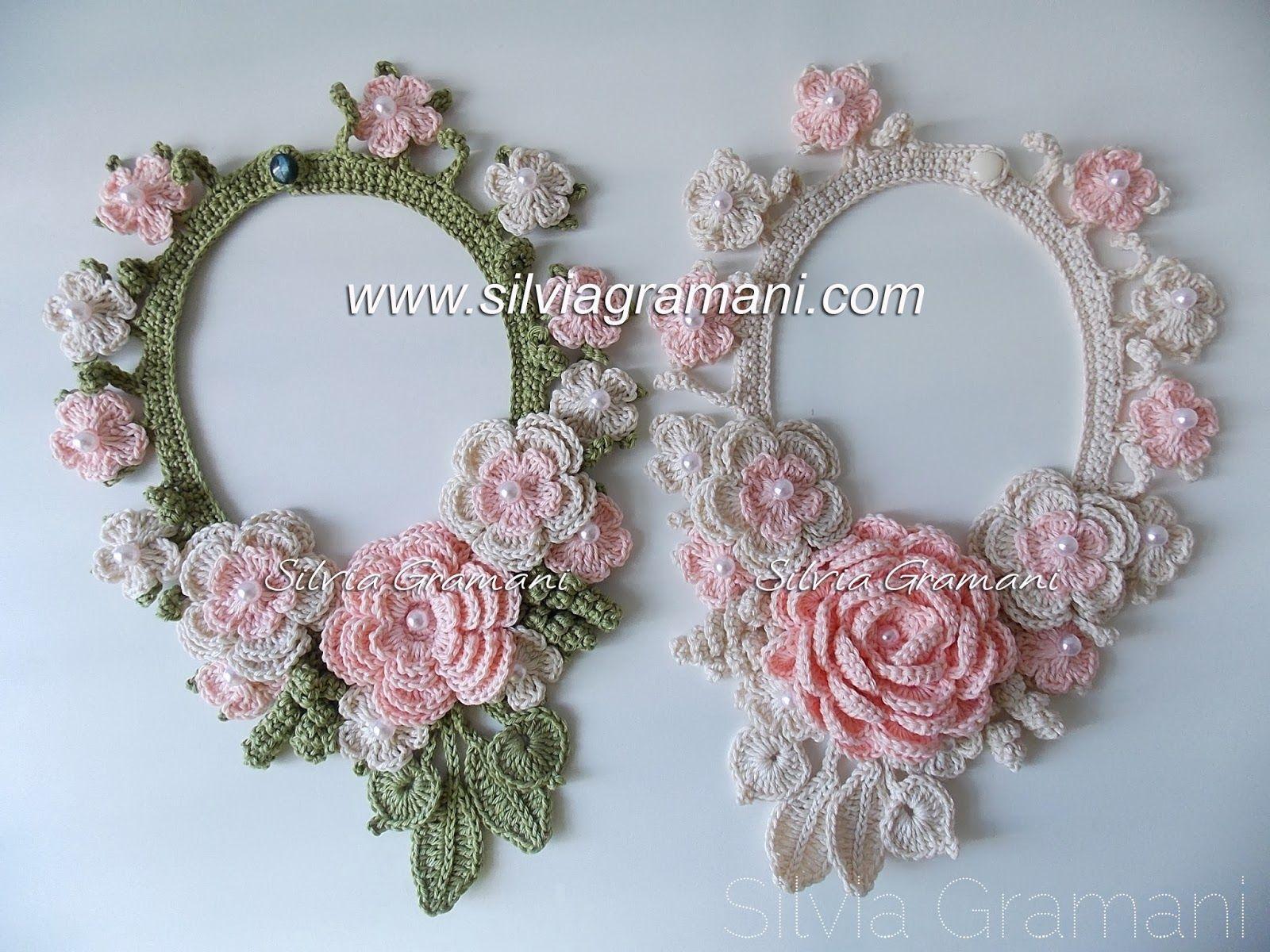 Colares De Croch Crochet Crochet Flowers And Crocheted Flowers