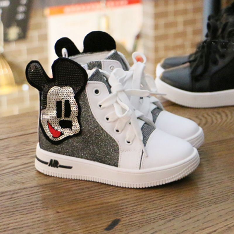 d9920255c Find More Sneakers Information about girl kid shoes bling glitter textile  upper cartoon hello kitty sneakers white black lovely children shoe fit 2~7  years ...