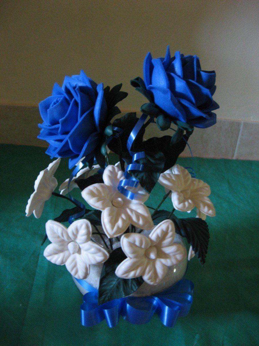 centro de mesa con goma eva para 15 - Buscar con Google | Rosas de foami,  Rosas en goma eva, Flores de fomy