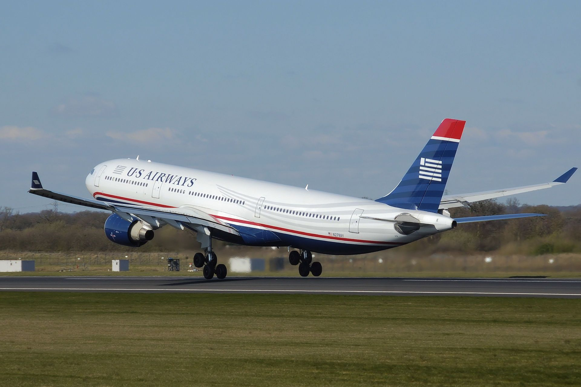 Us airways a330300 n278ay takeoff manchester arp List
