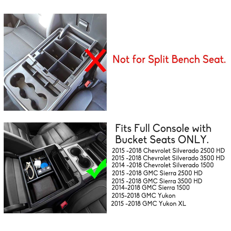 For Chevrolet Silverado 2500 GMC Sierra 1500 Center Console Armrest Storage Box