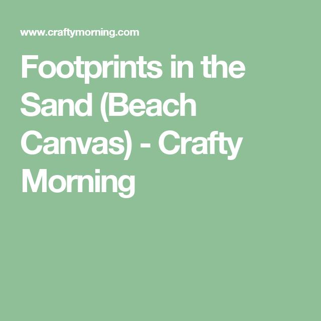 Footprints In The Sand Beach Canvas Beach Canvas Footprints And