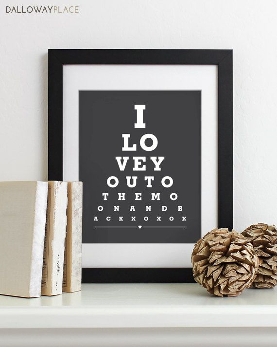 Husband Gift For Anniversary Gifts Men Paper Print Poster Wedding Him To The Moon And Back Pinterest