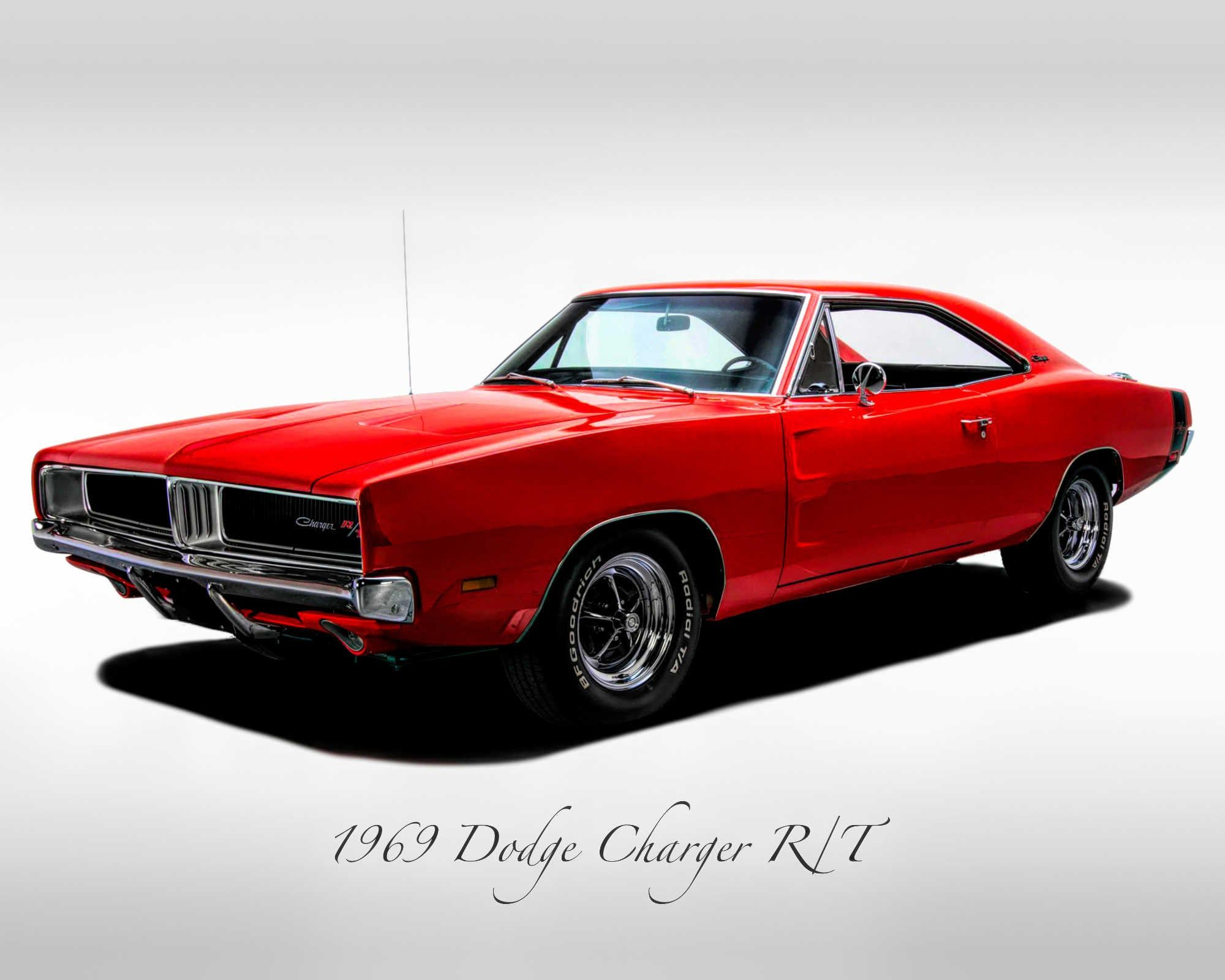 Classic Cars – 1969 Dodge Charger R/T – Muscle Car – Print