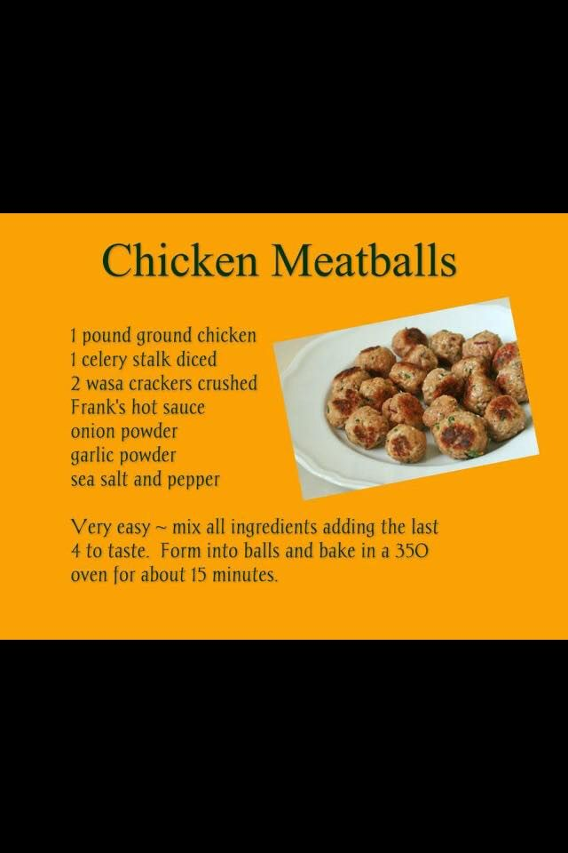 These Are Delicious Ground Chicken Meatballs Chicken Meatballs Hcg Diet Recipes