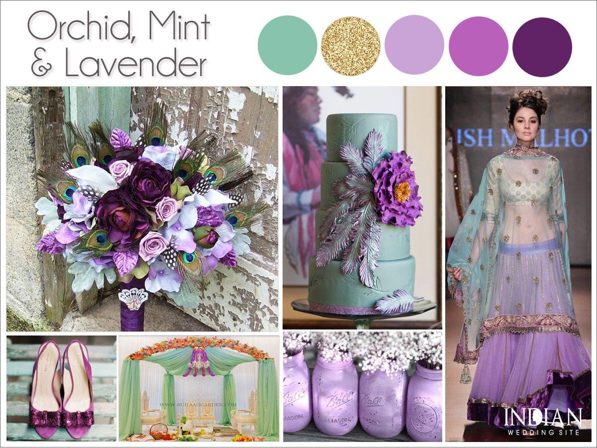 Orchid Lavender Mint Indian Wedding Color Inspiration