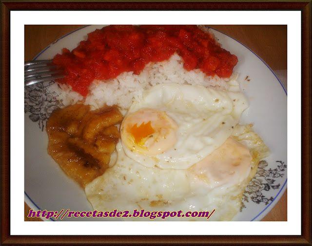 Arroz a la cubana a comer arroz arroz arroz a la cubana y recetas - Platos de pasta sencillos ...