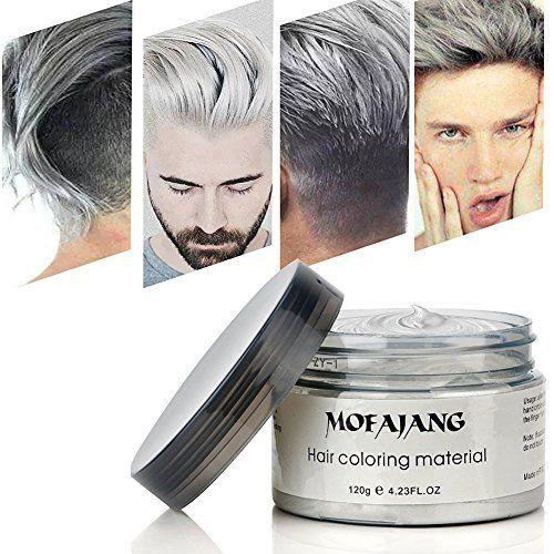 Hailicare Silver Grey Hair Wax 4 23 Oz Professional Silver Ash Hair Wax Natural Matte Hairstyle Hair Dye Wax F Natural Hair Styles Pomade Style Grey Hair Wax