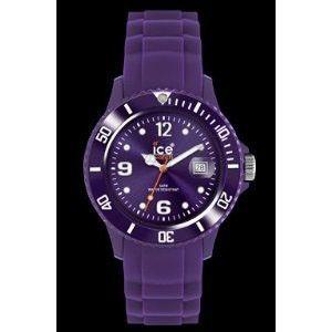 Ice-watch Unisex Ice-winter Grape Plastic Watch - Purple Rubber Strap - Purple Dial - Sw.ge.u.s.11