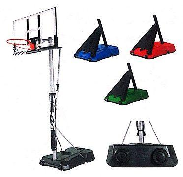 Spalding Hercules 52 Acrylic Portable Colored Base Basketball System Basketball Systems Spalding Basketball Hoop Spalding
