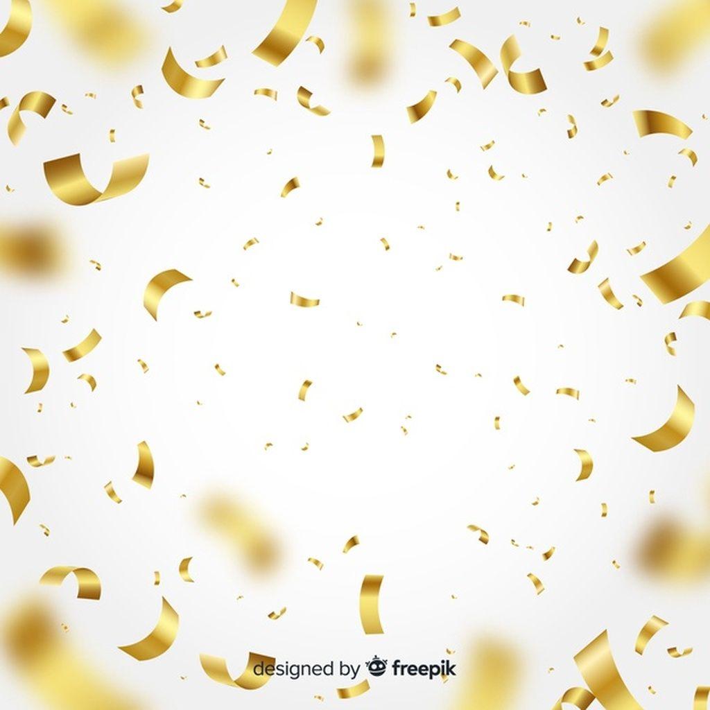 Golden Confetti Background Paid Ad Ad Background Confetti Golden Confetti Background Vector Free Freepik