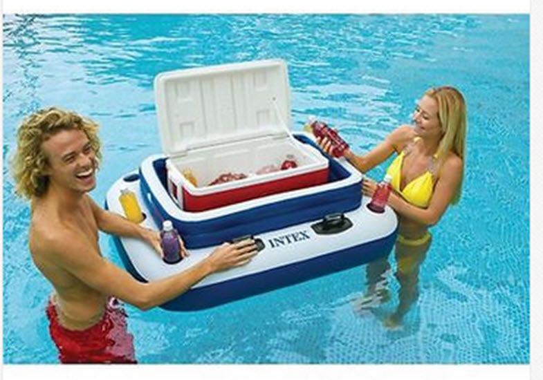 Inflatable Floating Cooler Ice Chest Pool Chill Soda River