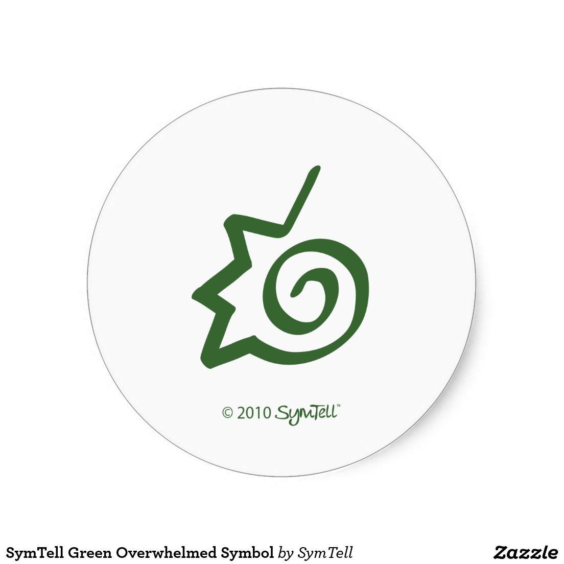 Symtell green overwhelmed symbol classic round sticker round symtell green overwhelmed symbol round sticker biocorpaavc Gallery