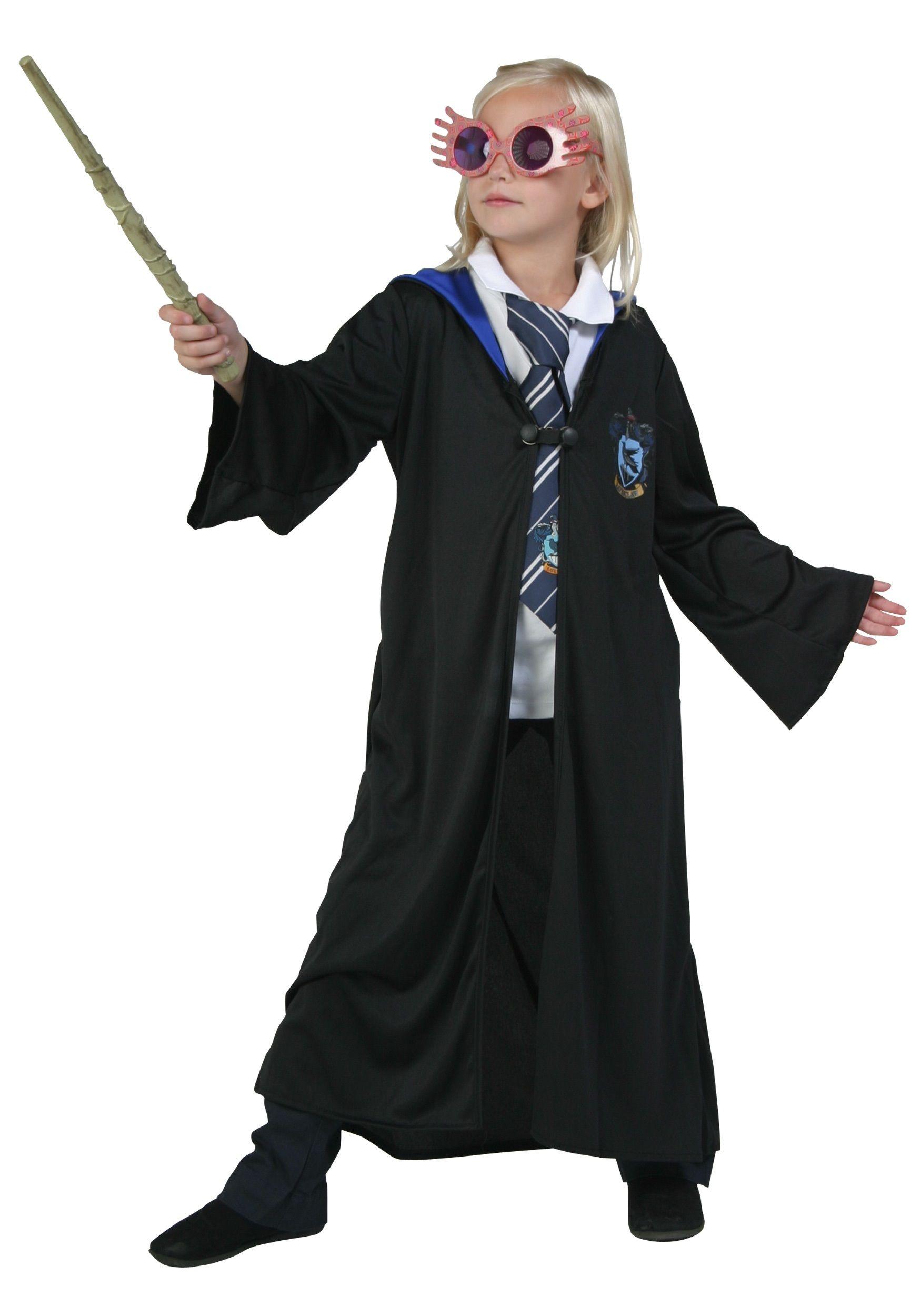 Luna Lovegood Harry Potter Adult Wizard Witch Halloween Costume Glasses