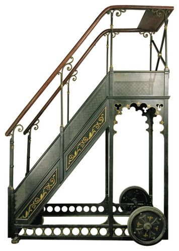 For My Dream Library A Bernard Rolling Library Ladder Eclectic Ladders And Step Stools Library Ladder Steampunk Furniture Steampunk House