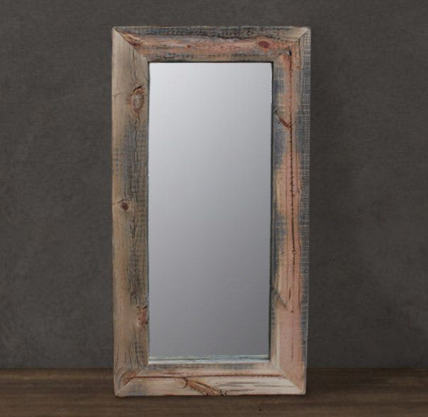 Reclaimed Wood Mirror - Floor or wall mount. Reclaimed Snow Fence Mirror  (Hemmingway Collection - Reclaimed Wood Mirror - Floor Or Wall Mount. Reclaimed Snow Fence