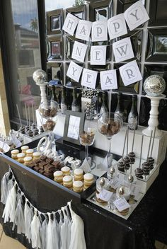 Black White Silver New Year S Party Ideas