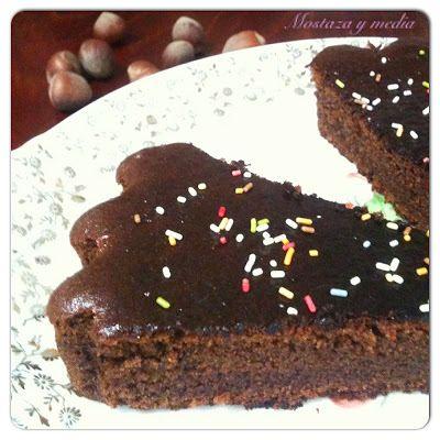 Brownie de avellanas con harina de algarroba