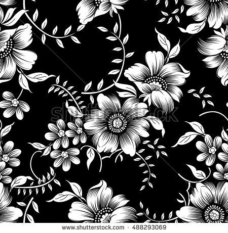 Black White Flowers Buy This Stock Vector On Shutterstock Find
