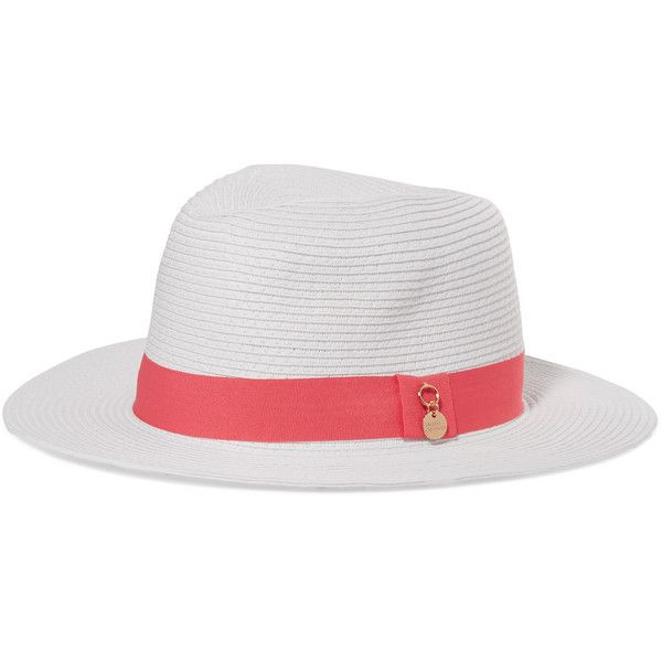 Grosgrain-trimmed Woven Paper Fedora - White Melissa Odabash Discount Get Authentic Popular SQ8YM7k
