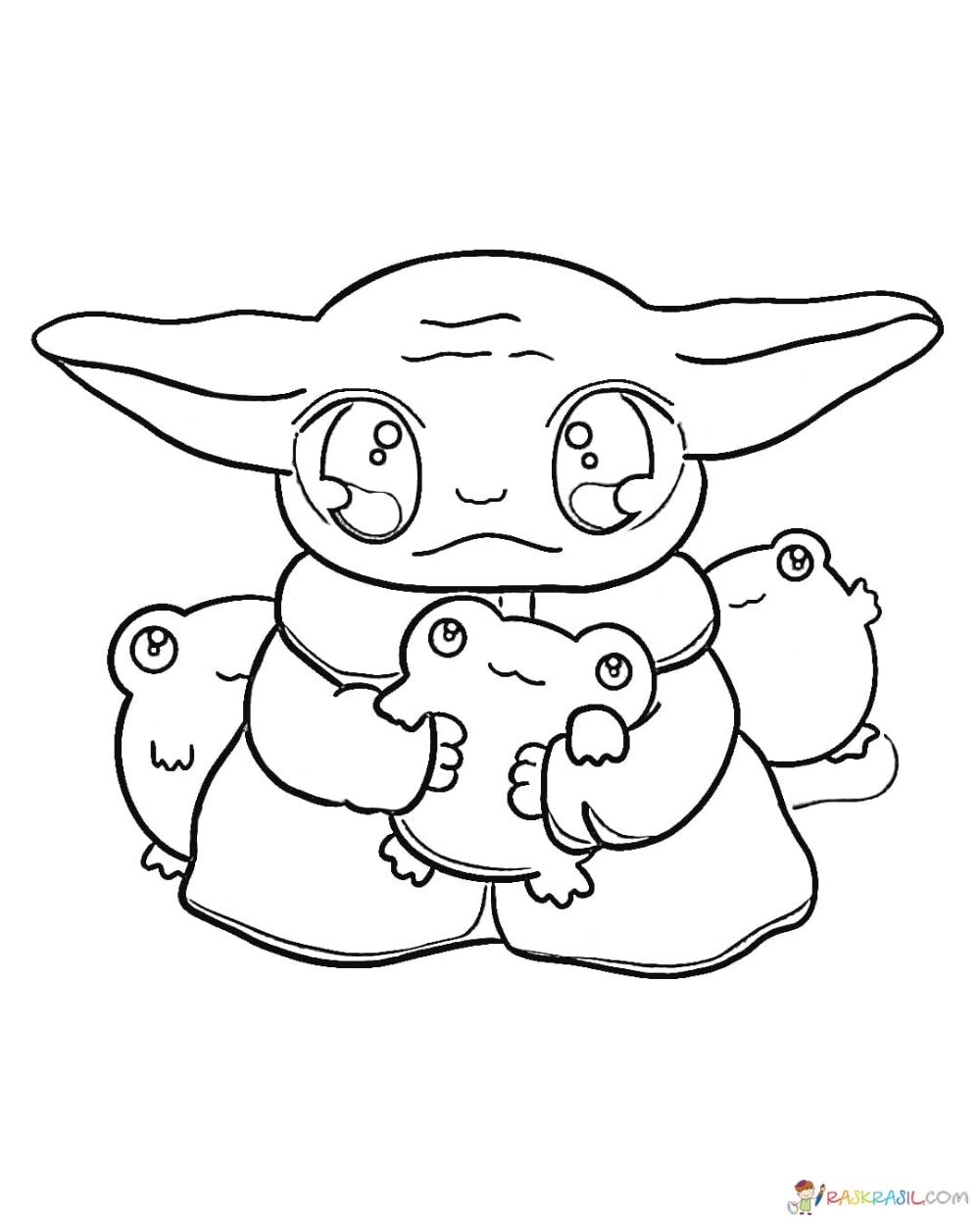 Coloring Pages Baby Yoda The Mandalorian And Baby Yoda Free Coloring Pages Unique Coloring Pages Alien Character