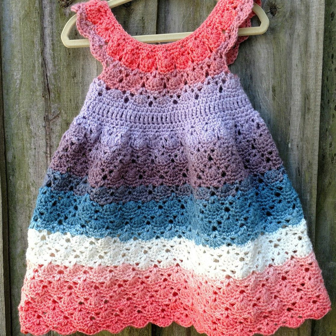9adbcda482c I finished an Easter dress for my daughter with the new mandala yarn by  Lion Brand!
