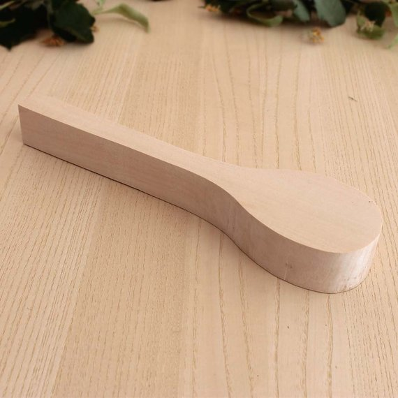 Wooden spoon spoon carving blank wood blank wooden blank
