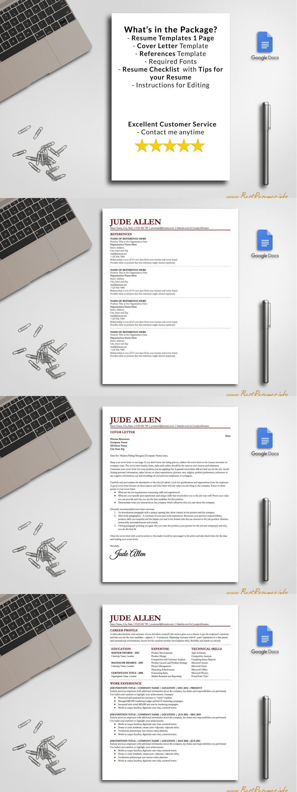 Resume Template Google Docs Resume template, Simple