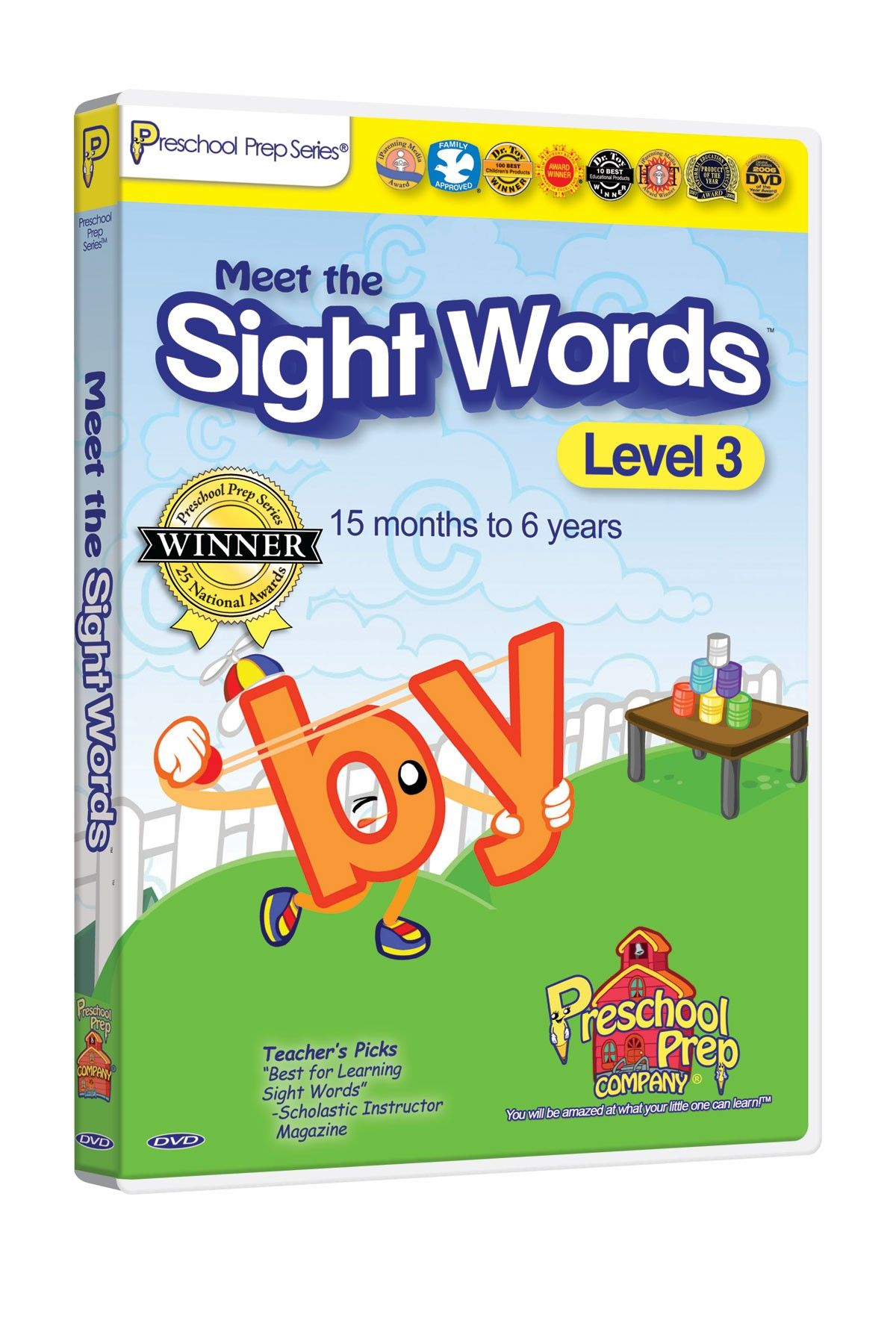 Preschool Prep Company Meet the Sight Words DVD - Level 3 | Ajin ...