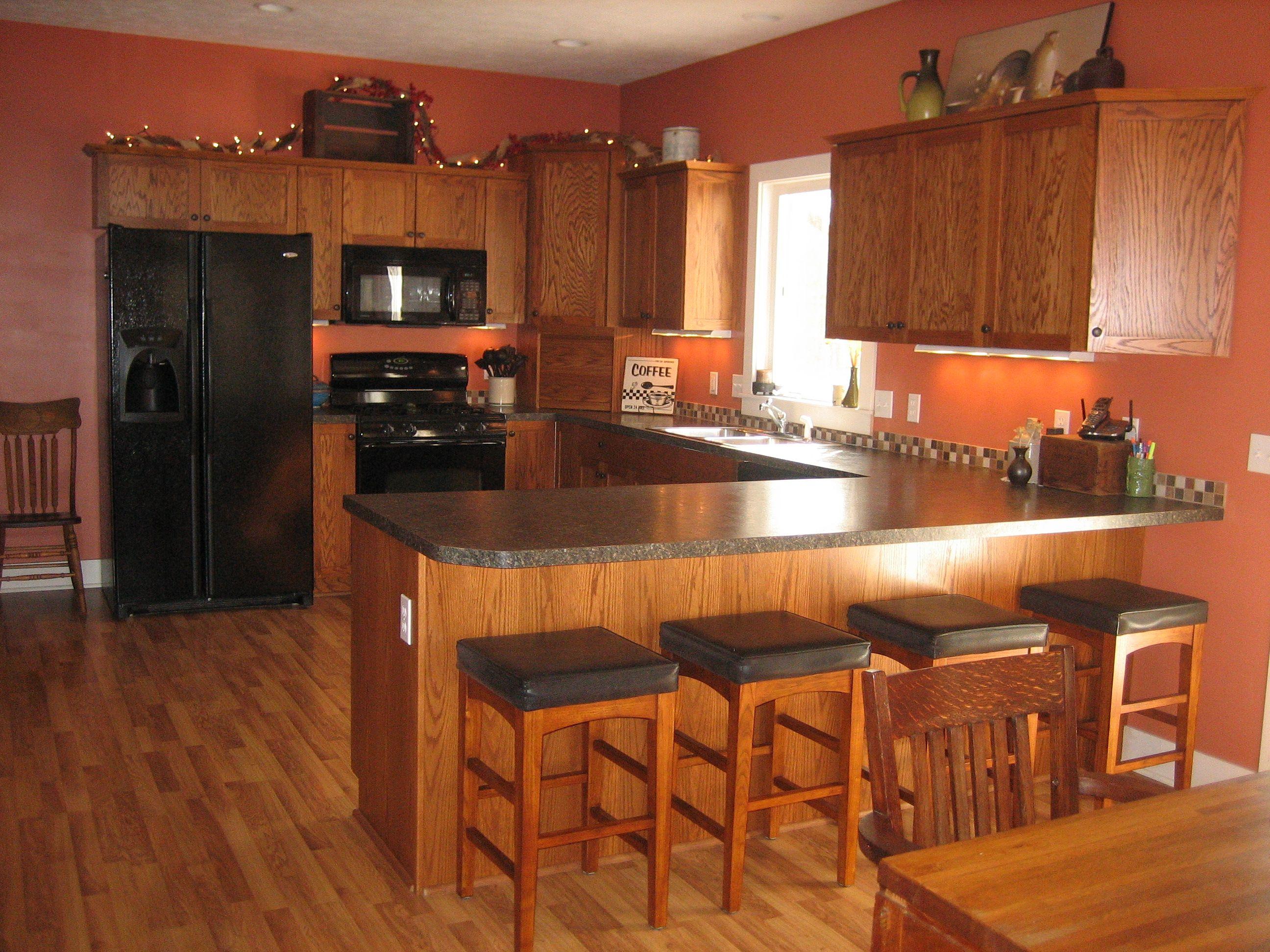 Orange Colored Kitchens Kitchen Room Paint Benjamin